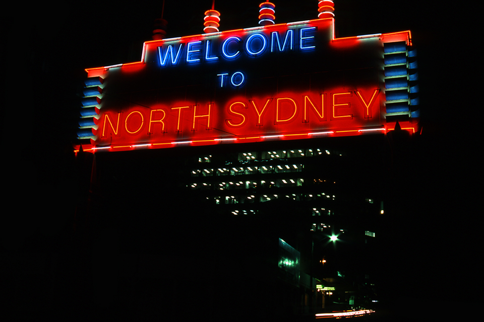 welcome to North Sydney neon sign